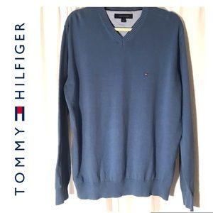Tommy Hilfiger VNeck Pullover Sweater Sz Large